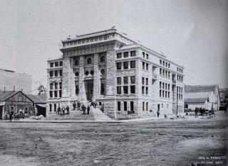 Old black and white photo of CVCA