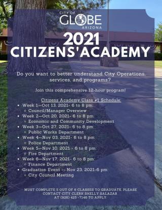 Citizen's Academy Flyer with Schedule