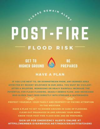 Post Fire flood risk flyer