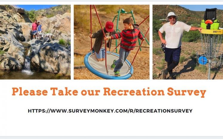 Three photos of recreational activities in the Cobre Valley Region